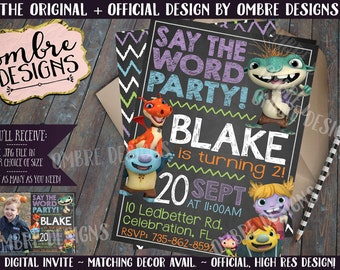 Wallykazam Invitation, Wallykazam Birthday, Wallykazam Party, Bobgoblin, Invite, Print
