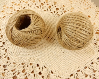 Natural Twine, 30m Jute Twine, Rustic Wedding, Natural String, Ball of Twine