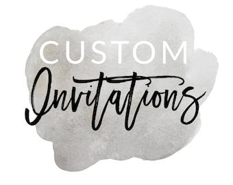 Custom invitations, custom announcements, custom cards, custom design, 5x7 invitations