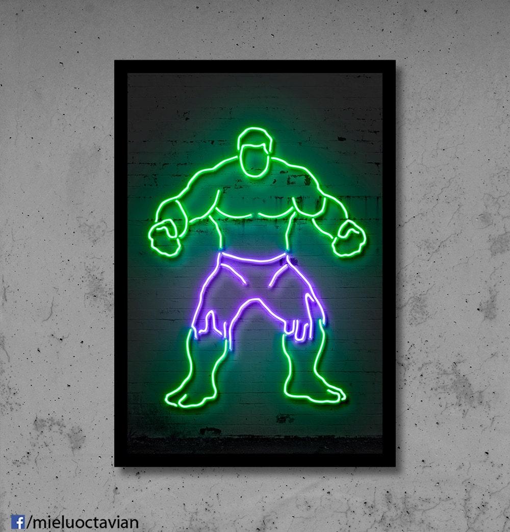 Hulk wall art | Etsy