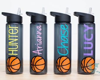 Basketball Gifts - Water Bottle for Basketball - Water Bottle with Name - Basketball Team Gift - 24 oz Water bottle with name - Banquet Gift