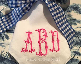 Barocco Monogrammed Napkins Set of 6