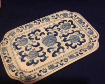 Blue and white Ceramic Tray