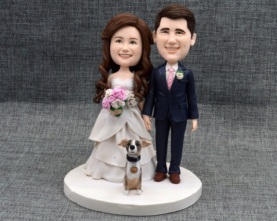 personalised wedding cake figurines wedding cake topper personalized cake by caketopperartstudio 18233