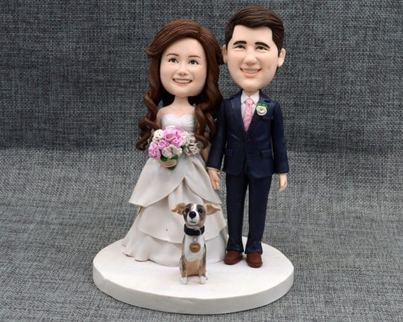 bobblehead wedding cake toppers personalized wedding cake topper personalized cake by caketopperartstudio 12068
