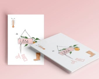 "greeting card ""summer"" + envelope"