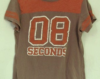 A Cute & Sporty,Vintage 90's Brown Short Sleeve T shirt By VANITY.L-Jr