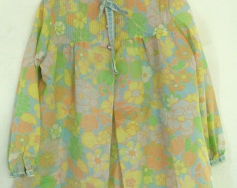Marked Down 25%@@A Women's Vintage 60's MAD MEN era Floral MATERNITY Blouse By Robbie Rivers.M