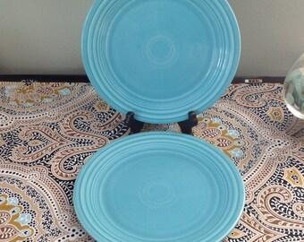 Fiesta Genuine HLO Turquoise Blue Dinner Plate Set