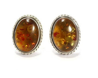 Amber Cufflinks 925 Sterling Silver Amber Handmade Mens Jewellery by AmoreIndia C336