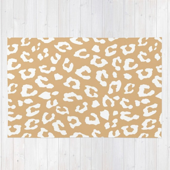 rug animal print rug leopard print rug by wildwatercolours