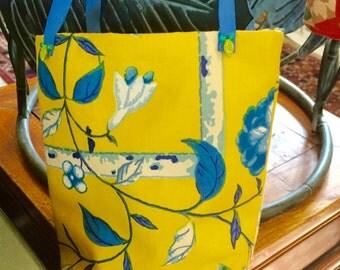 Yellow Cotton Chintz Gift Bag