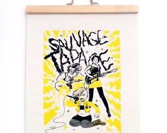 """Serigraph """"Wild fanfare"""""""