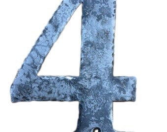 Metal House Numbers  - Forged Texture - Choose a Finish