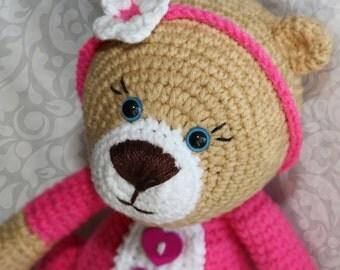 Teddy bear Toy Crochet Teddy Bear Toy for girl Handmade bear Stuffed bear Plush bear Amigurumi Teddy