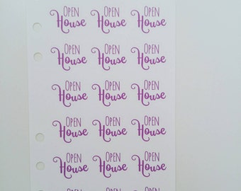 Open House Direct Sales Planner Stickers