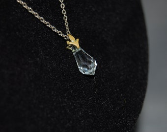 Dew drop crystal necklace ~ Vintage