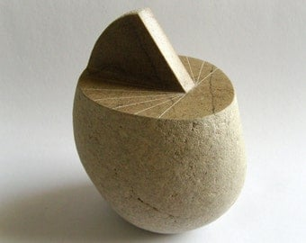 Windowsill Sundial for UK,  carved natural beach stone, with free shipping!
