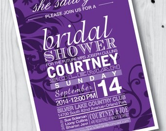 She Said Yes Bridal Shower Invitation