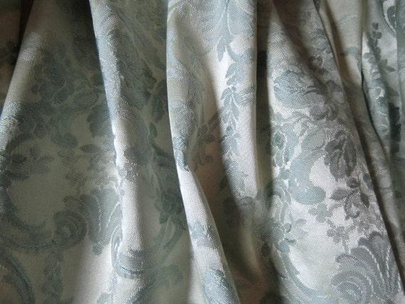 vintage brocade curtains gardinenschals pale blue fabric of. Black Bedroom Furniture Sets. Home Design Ideas