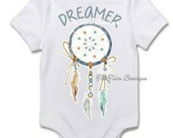 Dreamer Onesie, Dream Catcher Bodysuit, Cute Baby Toddler Child Adult Shirt