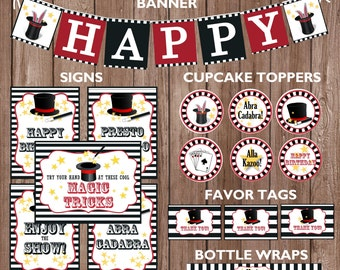 Magic Theme Birthday Party Package-INSTANT DIGITAL DOWNLOAD