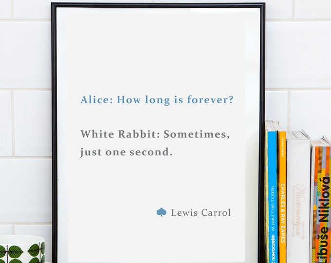 Alice in Wonderland Poster / Printable 50X70 Poster / Alice in Wonderland Print