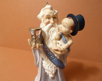 Hallmark Cards Ornament, New years baby & Father Time