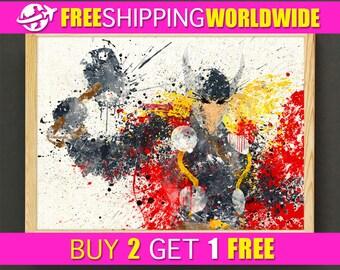 Thor art poster - Ragnarok Marvel Superhero Avengers - FREE SHIPPING [115s2g]