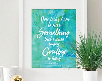 Instant Download Turquoise Seafoam Watercolor Love Quote Valentine's Day 8x10 inch Poster Print - P1165