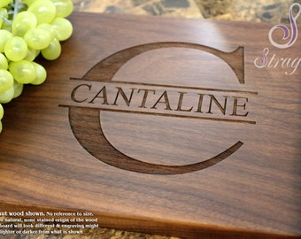 Personalized Cutting Board, Custom Cutting Board, Engraved Cheese Board, Monogrammed Cutting Board, Wedding Gift. 201