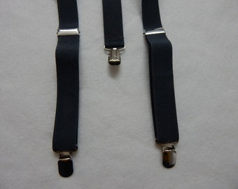 black suspenders - for the diaper cover and tie set---boy's black suspenders