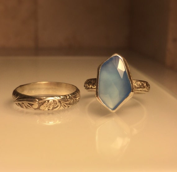 handmade gemstone ring handmade blue chalcedony ring free