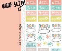 Disney World Vacation Planning Stickers (#001)