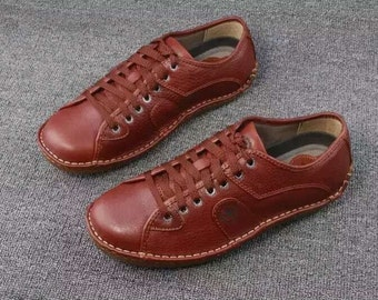 Boys leather shoes casual comfortable real leather boots