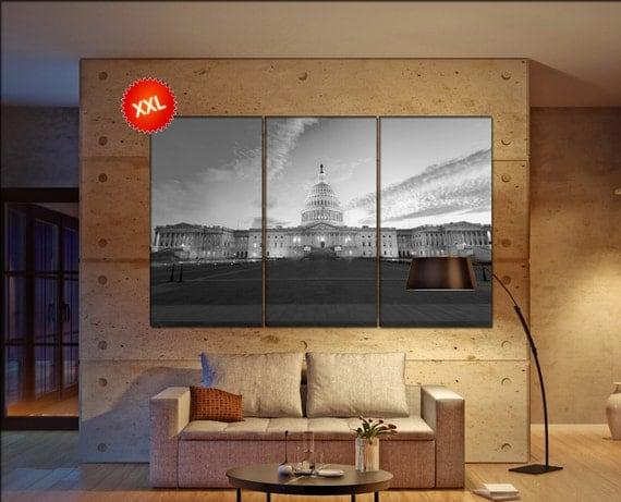 Washington DC  canvas wall art  Washington DC skyline  wall decor canvas wall art  Washington DC large canvas wall art wall decoration