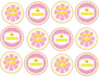 Edible Lemonade Stand Cupcake/Cookie toppers