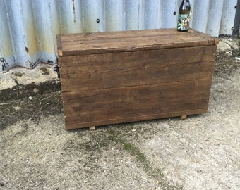 Rustic UpCycled Industrial Box - Blanket Box - Toy Box