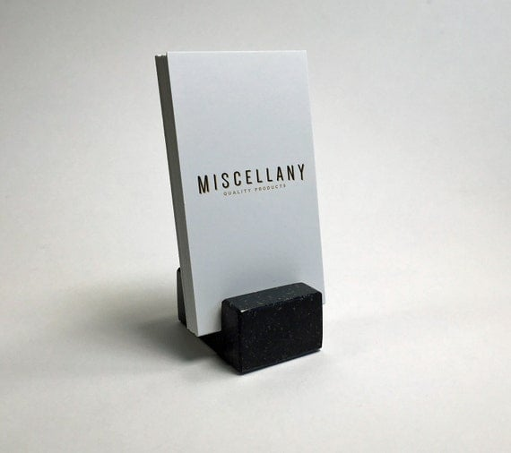 Vertical Business Card Holder made from Black by