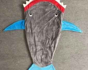 Shark or mermaid baby blankets