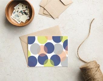 Overlapping Circles Greeting Card