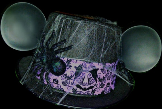 Haunted mansion inspired hat. Halloween disney hat. Mickey Mouse Top Hat. Original Disneyland Hat. Mickey Mouse Ears. Custom Disney Hat.