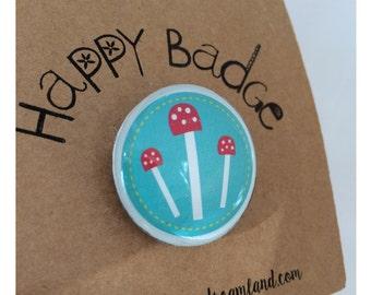 Happy Badges/Pins,Cool Brooches,Kids Badges,Unicorn Badge, Dinosaur Badge, Cherries, Star Badge, Toadstool Brooch, party bag gifts