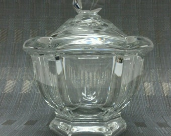BACCARAT Crystal BRETAGNE Sugar Bowl with Lid Nuts Candy Dish France #KK