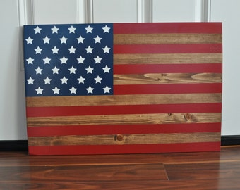 Wooden United States of America Flag Wall Hanging