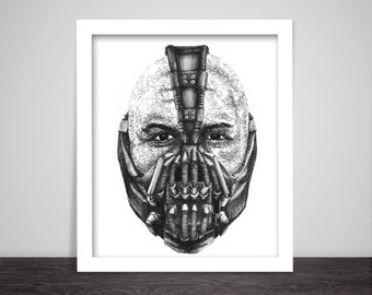 Scribbled Bane ( Tom Hardy - The Dark Knight Rises) - Poster