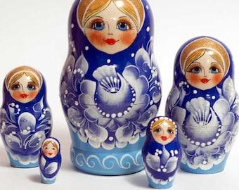 Nesting dolls for kids Gzel matryoshka - #30AA