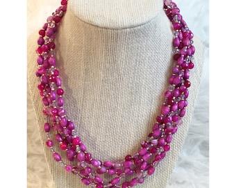 Gorgeous purple beaded necklace