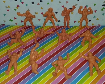 Complete set of 12 1980s Remco WWF Wrestling Rubber Figures