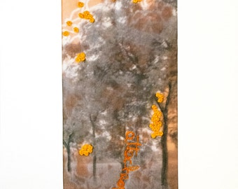 Fibre art/textile art/mixed media - Ghostly trees series (attached)-Free shipping to Canada and USA!